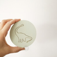 Dinosaur Engraved Wall Handle