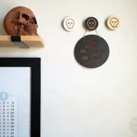 Skull Engraved Wall Handle