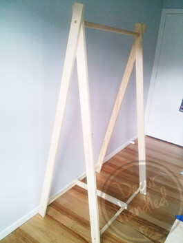 Bolted A-frame Clothing Rack