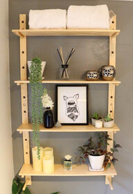 Peg Shelving- 120cm tall PAIR