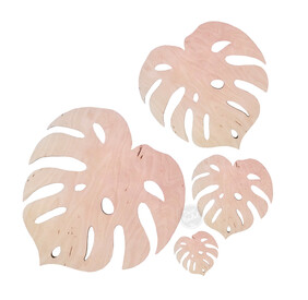 Tropical Leaf Decor - Wall Hung or Coasters