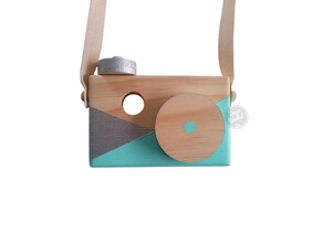 Children's Wooden Decor Geo Camera