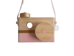 Children's Wooden Decor Stripe Camera
