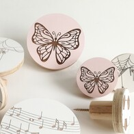 Butterfly Engraved Wall Handle