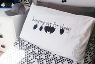 "BATty ""Hanging out for sleep"" Quote DOUBLESIDED Pillowcase"