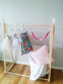 Dipped A-frame Clothing Rack