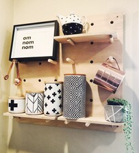 Firsts - Hanging Ply Pegboard 60cm x 60cm PACKAGE - Ready to ship